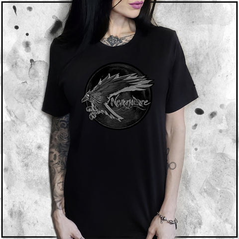 Ladies | Apothic Ink | Poe - Nevermore Raven | Oversized Tee