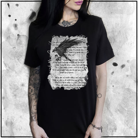 Ladies | Apothic Ink | Poe - The Raven | Oversized Tee