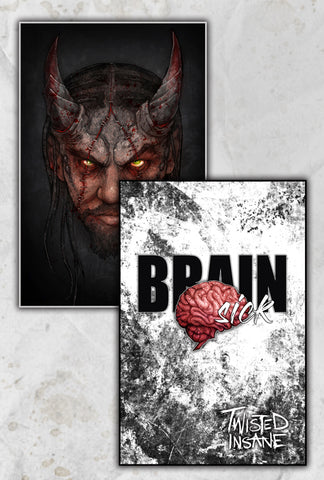 Twisted Insane Portrait/Brain Sick Combo 11x17 Prints (2)