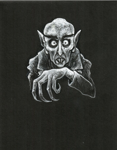 Original Art | Nosferatu | 6x8 Original Pencil Drawing