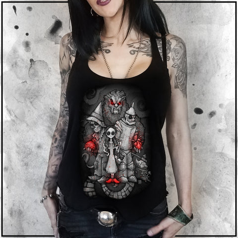 Ladies | Sinister Fables - Wizard of OZ | Triblend Racerback Tank