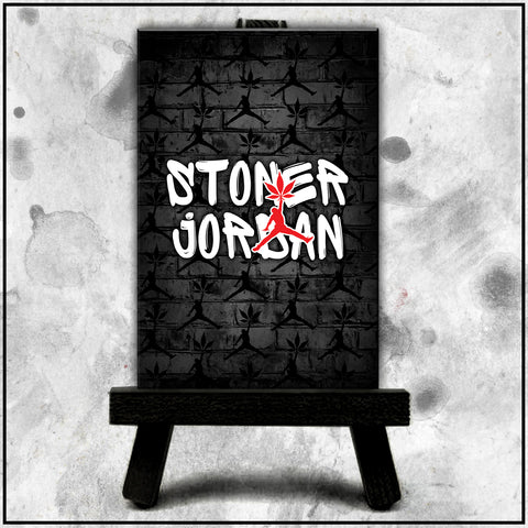 Jordan Stoner - Brick Wall Grey Canvas