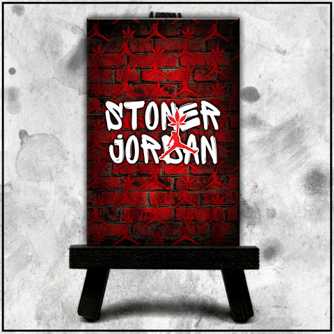 Jordan Stoner - Brick Wall Red Canvas