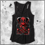 Ladies | Terry Huddleston - Deadpool | Triblend Racerback Tank