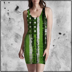 Toke the Raven - Weed Flag Bodycon Mini Dress