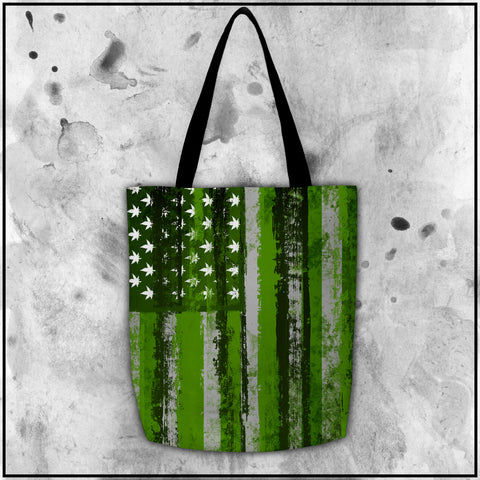 Toke the Raven - Weed Flag Tote Bag