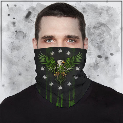 Toke the Rave - Weed the People Dark Neck Gaiter