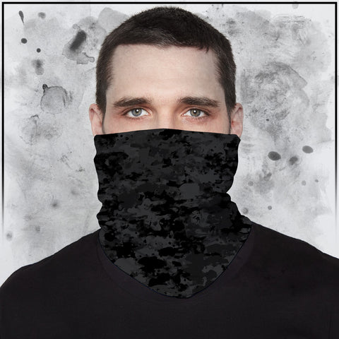 Tribe 22 - Camo Dark Grey Neck Gaiter