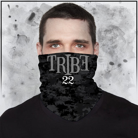 Tribe 22 - Dark Camo with Logo Neck Gaiter