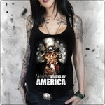 Ladies | Undead States of America | Triblend Racerback Tank