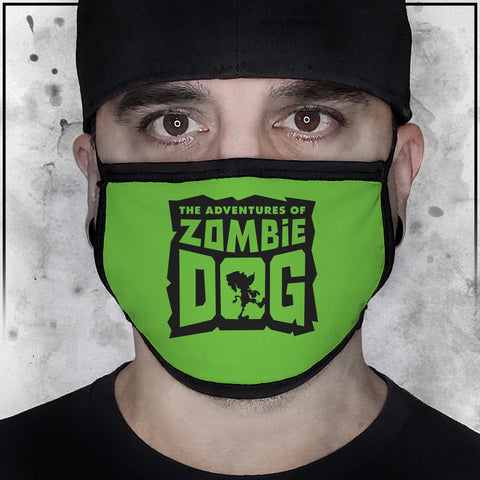 Zombie Dog Logo Green Face Mask