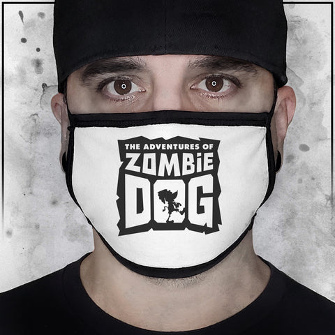 Zombie Dog Logo White Face Mask