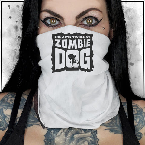 Zombie Dog Logo White Neck Gaiter