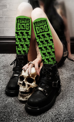 Zombie Dog Logo Black & Green II Socks