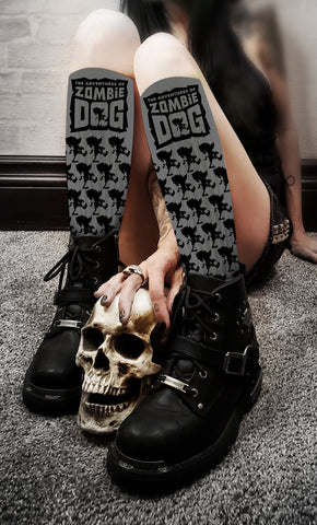 Zombie Dog Logo Black & Grey Socks