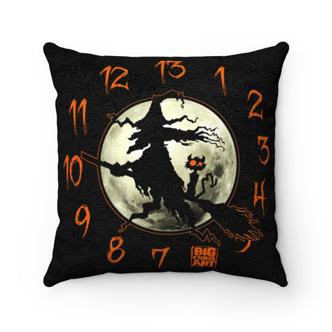 Cuddly Killers | The Witching Hour | Faux Suede Square Pillow