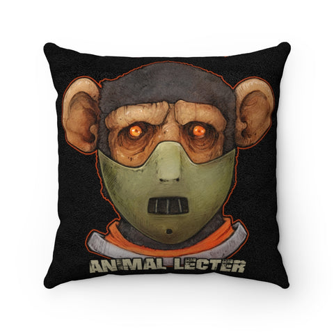 Cuddly Killers | Animal Lecter | Faux Suede Square Pillow