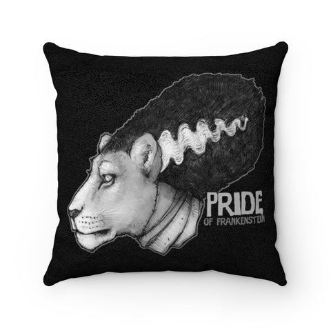 Cuddly Killers | Pride of Frankenstein | Faux Suede Square Pillow