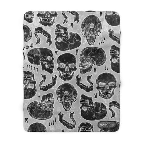 Apothic Ink | Skull X-Ray Pattern | Sherpa Fleece Blanket