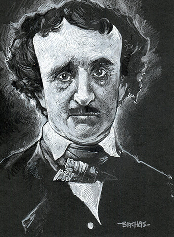 Big Christober | Edgar Allan Poe Portrait | 6x8 Original Color Pencil Sketch