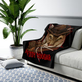 Cuddly Killers | Freddy Cougar | Sherpa Fleece Blanket