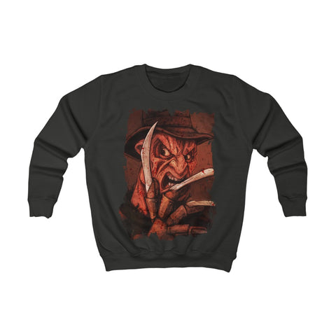 Horror  | Freddy Krueger | Kids Sweatshirt