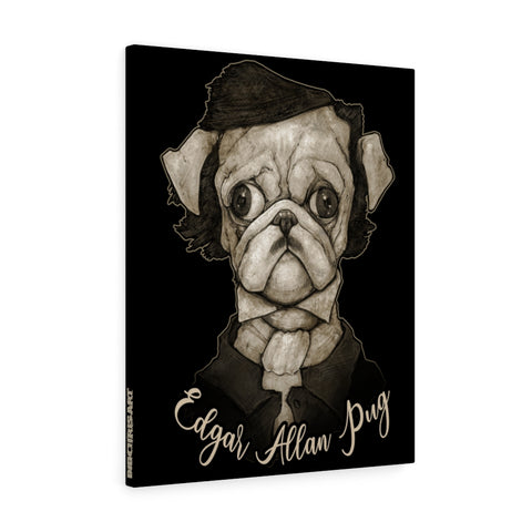 Cuddly Killers | Edgar Allan Pug | Canvas Gallery Wraps