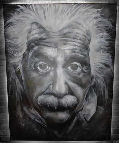 Albert Einstein Original Painting - SOLD!