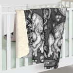 Apothic Ink | Anatomical Heart Pattern | Sherpa Fleece Blanket
