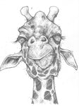 Original Art | Giraffe | 6x8 Original Pencil Drawing