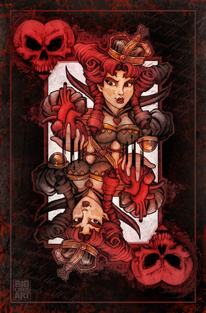 Bad Ace - Queen of Hearts - Canvas