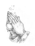Original Art | Trust God, but Wash Your Hands | 11x14 Original Pencil Drawing
