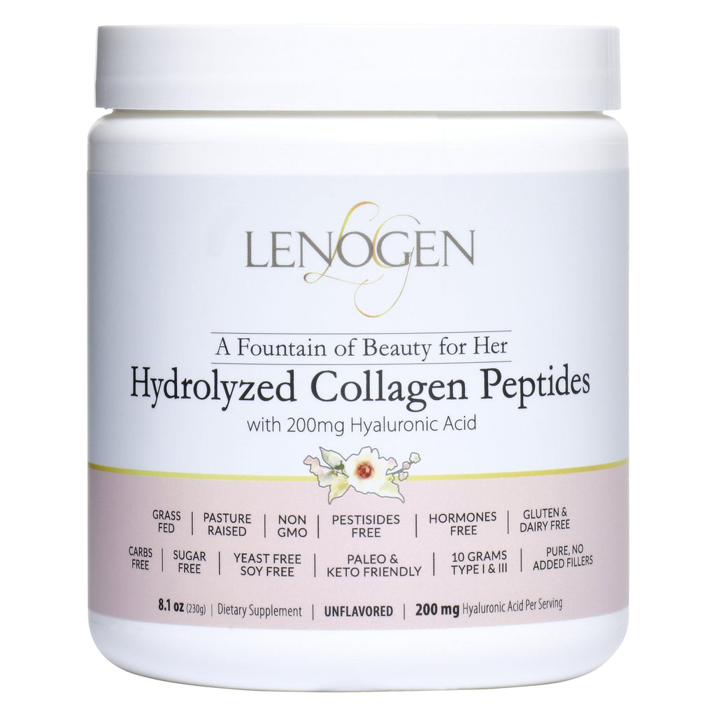 Lenogen Hydrolyzed Collagen Peptides with Hyaluronic Acid