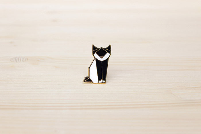 Origami Cat Brooch