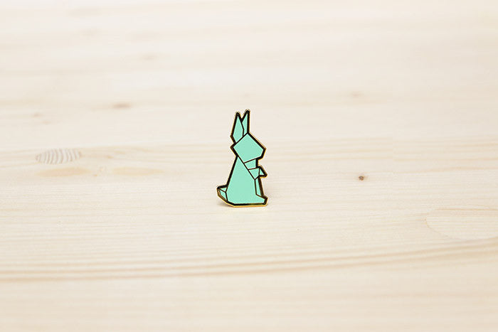 Origami Rabbit Brooch