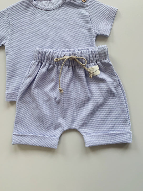 aster shorts - almond purple