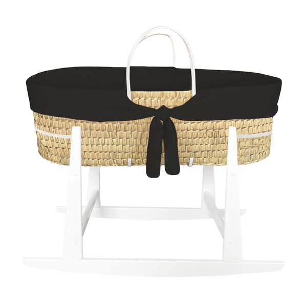 moses basket rocker - cool black