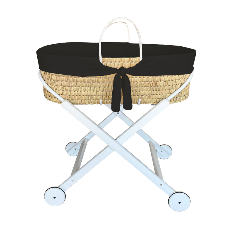 moses basket - cool black