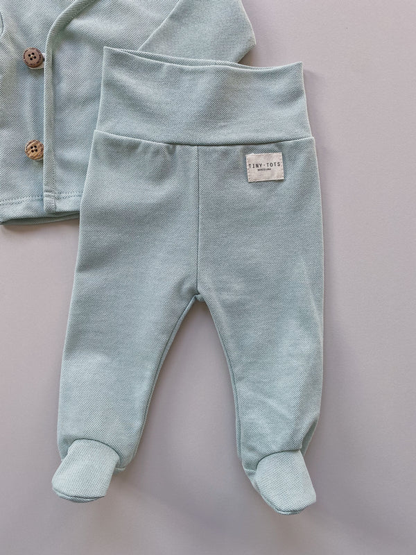 footed pants - mint green