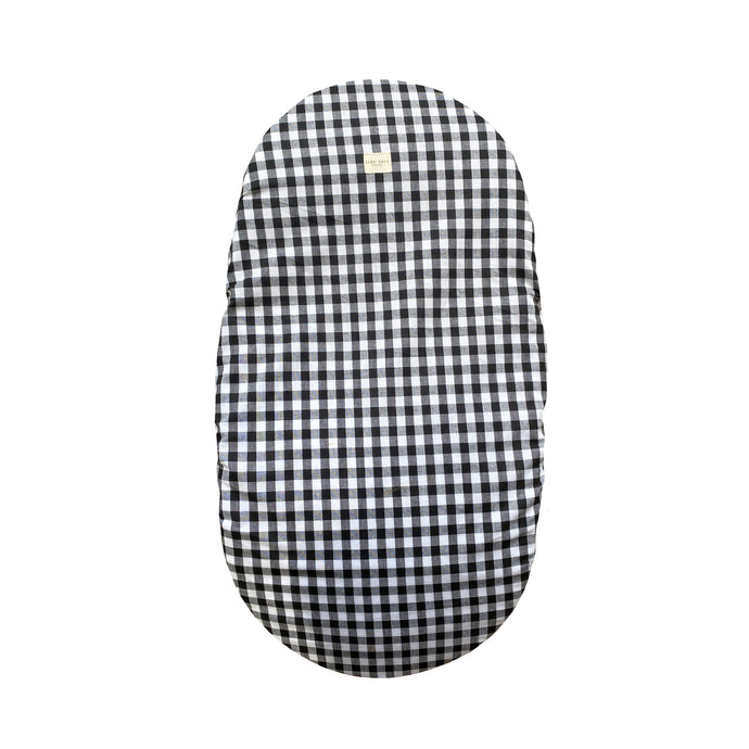 MOSES BASKET COVER | CHECKED BLACK