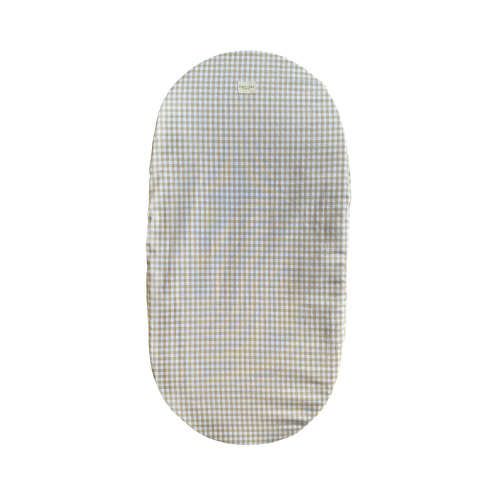 MOSES BASKET COVER | CHECKED SAND