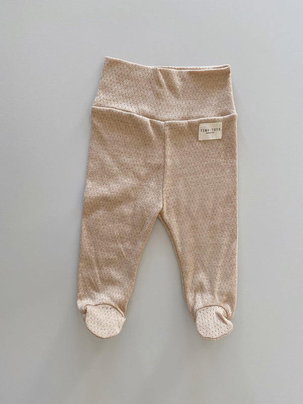 footed pants - caramel