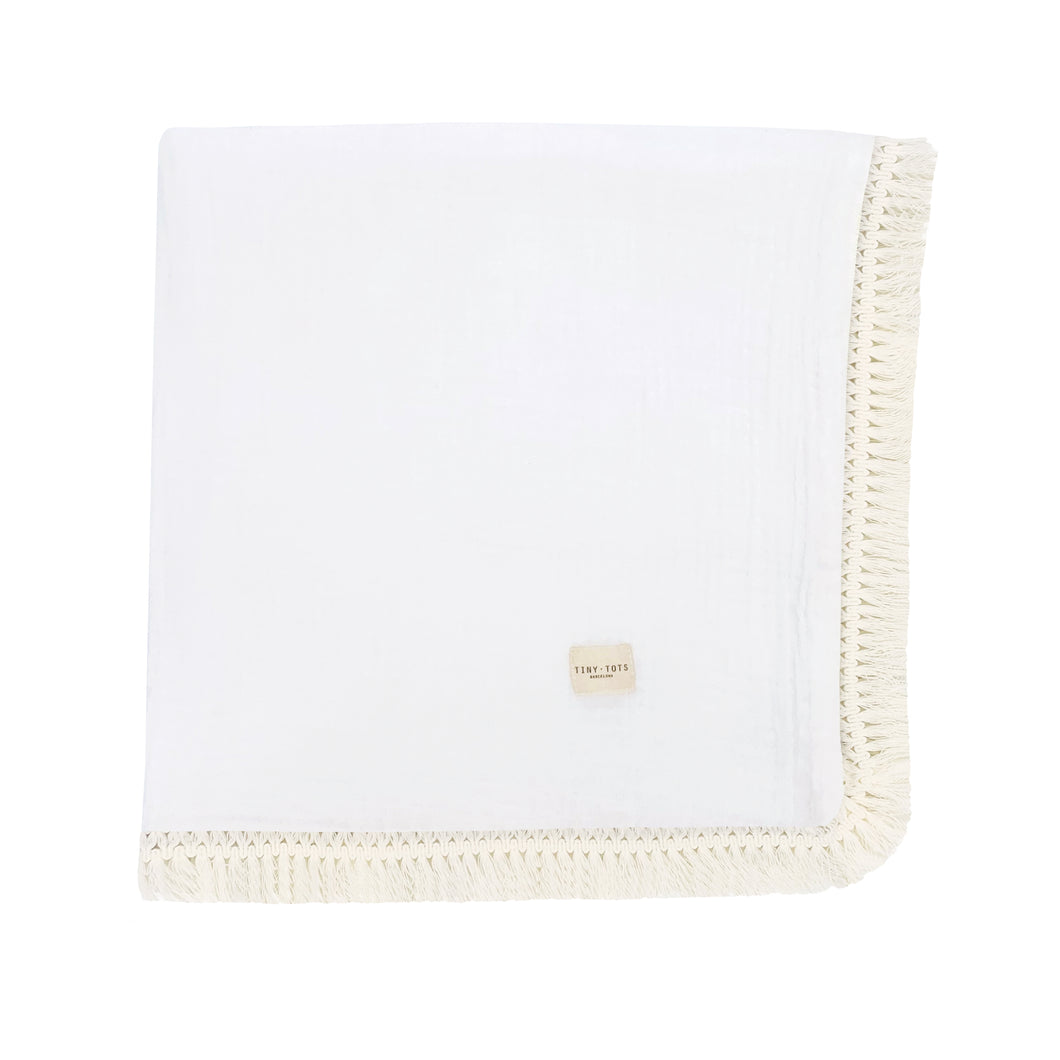 MOSS ROSE BLANKET | CHALK WHITE