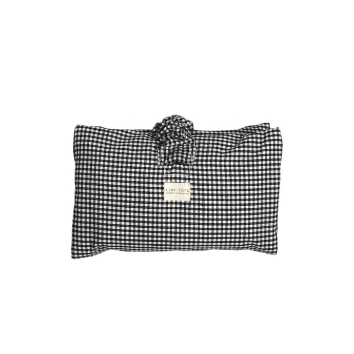 IVY NAPPY CHANGER | TINY CHECKED BLACK