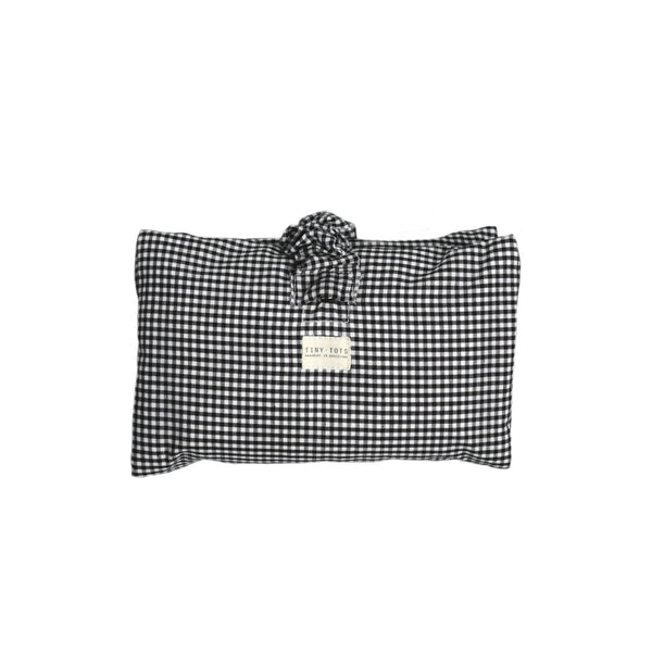 ivy nappy changer - tiny checked black
