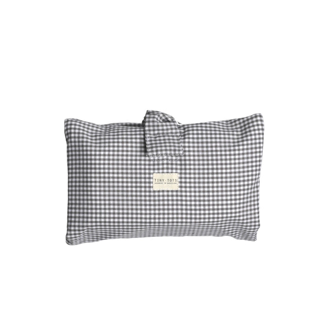 IVY DIAPER BAG | TINY CHECKED GREY