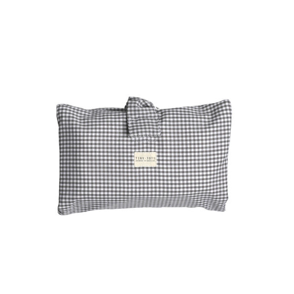 ivy diaper bag - tiny checked grey