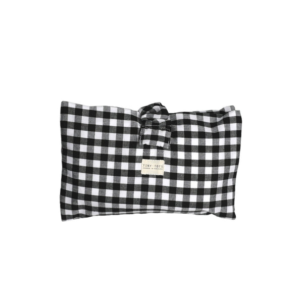 ivy nappy changer - checked black
