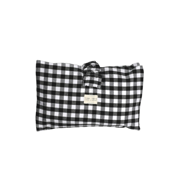 ivy diaper bag - checked black