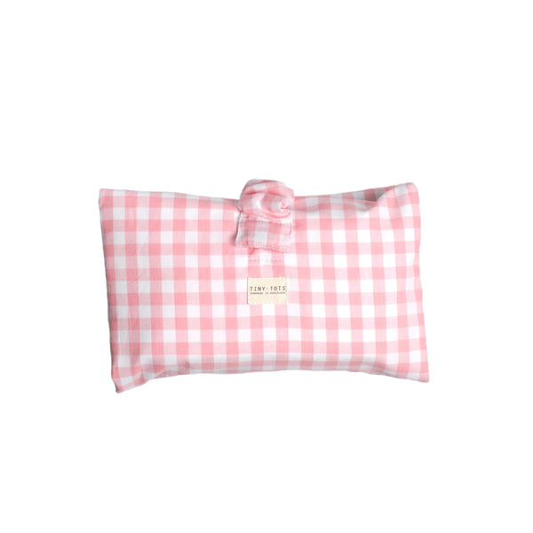 ivy diaper bag - checked pink